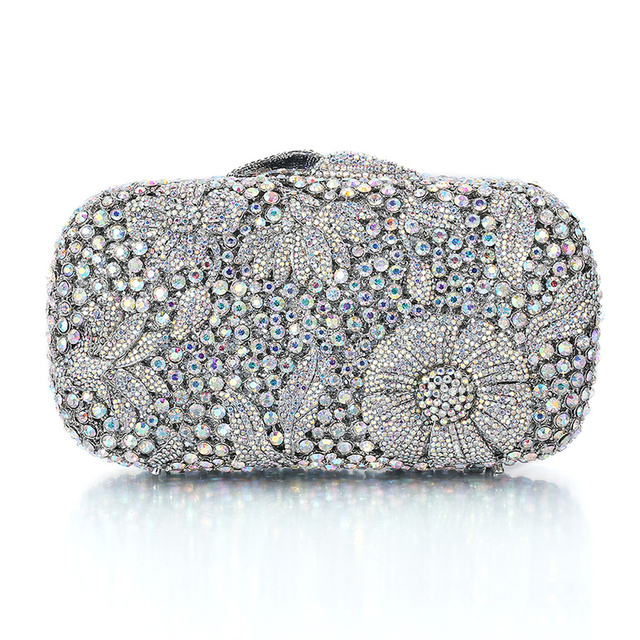 Hot Silver Clutch Handbags On Sale For Cheap Designer