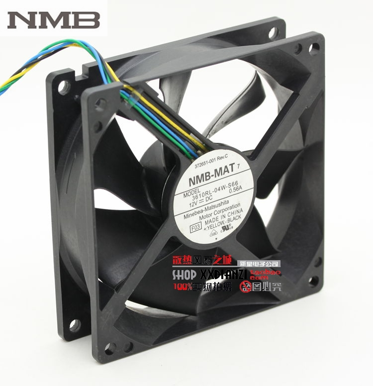NMB 3610RL-04W-S66 9225 9cm DC 12V 0.56A PWM intelligent speed 92*92*25mm dc brushless fan nmb new and original fba09a12m 9025 9cm 12v 0 2a chassis silent cooling fan 90 90 25mm