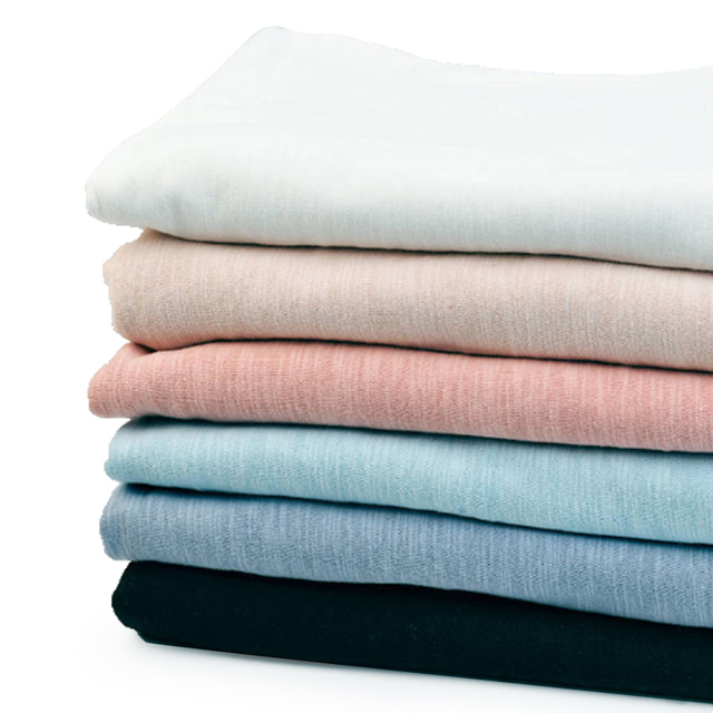 16s plain cotton slub fabric not see through for Spring pullover or dress 50*170cm K302545