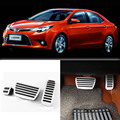 Brand New 3pcs Aluminium Non Slip Foot Rest Fuel Gas Brake Pedal Cover For Toyota Levin AT 2014-2016
