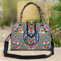 New Coming Multi Embroidery Shoulder Bags Hot Women S Handbags Vintage Casual Embroidered Shoulder Bag Travel