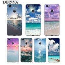 Transparent Soft Silicone Phone Case Sea Sky beach for OPPO F5 F7 F9 A5 A7 R9S R15 R17 Cover женское бикини sky 6613 r17