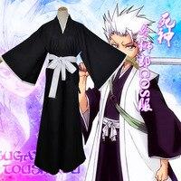 Japanese Anime Bleach Kimono Kuchiki Rukia Cosplay Costume Suit Full Set Tops Pants Belt