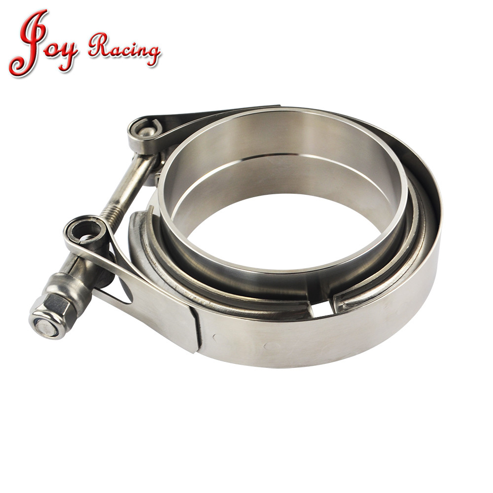 """OBX 2.75/"""" V-Band Clamps Flange Stainless Universal Kit"""