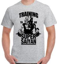 trainieren to go Super Saiyajin - Herren T-Shirt Dragon Ball Z Free shipping  Harajuku Tops Fashion Classic Unique T Shirt