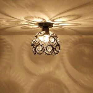 Круглый светодиодный потолочный светильник для гостиной, современный, простой, креативный, K9, хрустальные лестницы, коридорный, проходной, ...
