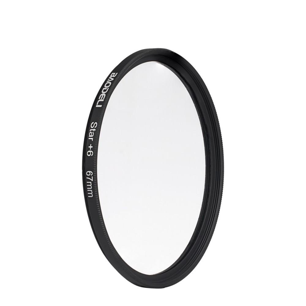 """מוצרי חשמל לבית BAODELI מצלמה עדשה Filtro כוכב מסנן 6 פוינט 49 52 55 58 62 67 72 77 82 מ""""מ עבור אביזרים Canon DSLR Nikon Sony X3000 A600 (2)"""