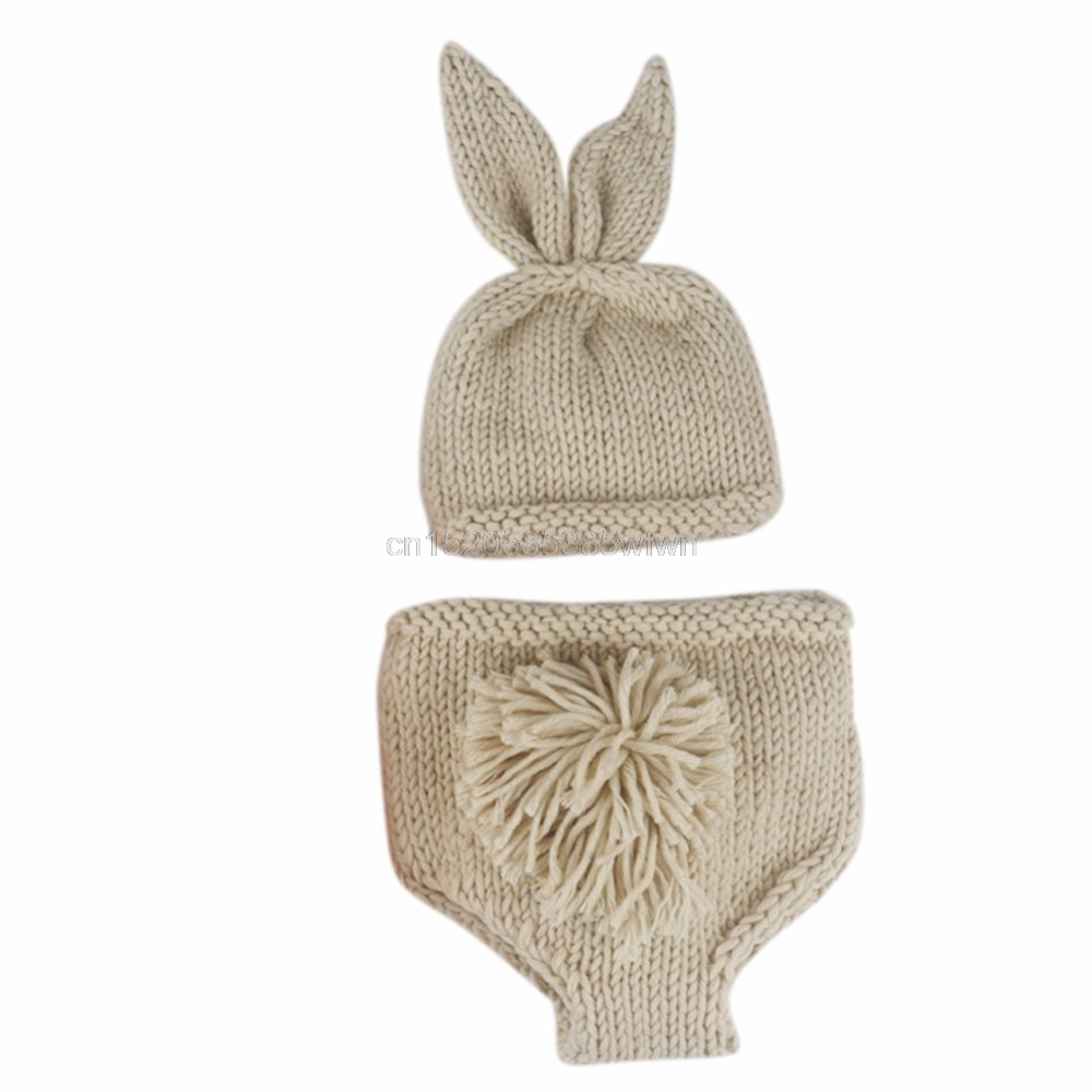 Newborn Baby Cute Crochet Knit Costume Prop Outfits Photo Photography Baby Hat Photo Props New born baby girls Cute Outfit Drop free shipping new winter unisex oversized slouch cap plicate baggy beanie knit crochet hot hat y107