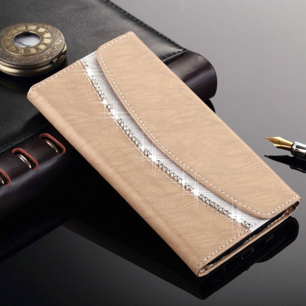 Luxury Phone Bag Wallet Case For Samsung Galaxy S8 S9 Plus S10 S10E Girl Elegant Flip Leather Capa For Samsung S7 S6 Edge S5 Neo