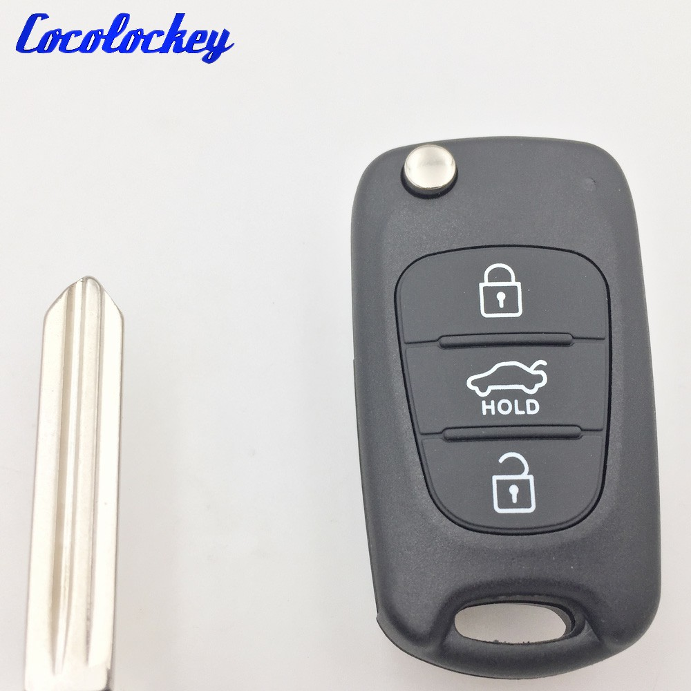Cocolockey 3Buttons Folding Flip Remote Key Shell For Hyundai I30 IX35 Kia K2 K5 Entry Fob Auto Replacement Parts NO LOGO топливоснабжение no logo 7 10an auto