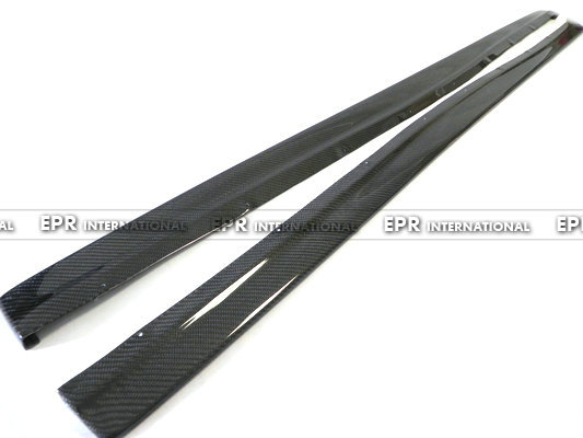 Carbon Fiber Damd Style Side Skirt Extension Fit For Mitsubishi Evolution EVO 7 8 9 Car