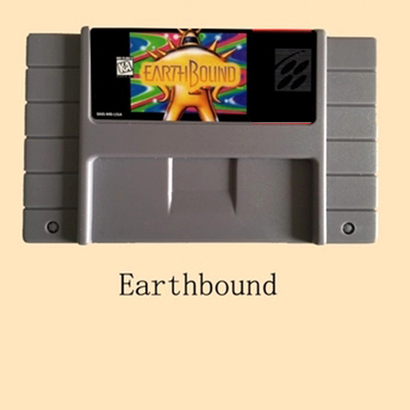 Earthbound USA Version 16 bit Big Gray Game Card For NTSC Game Player mickey mouse castle of illusion