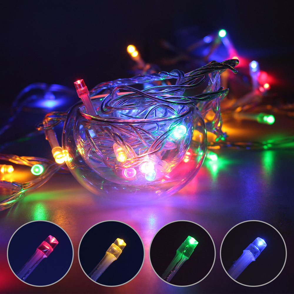 Christmas Tree Indoor Lights: 10M 100leds String Garland Christmas Tree Fairy Light