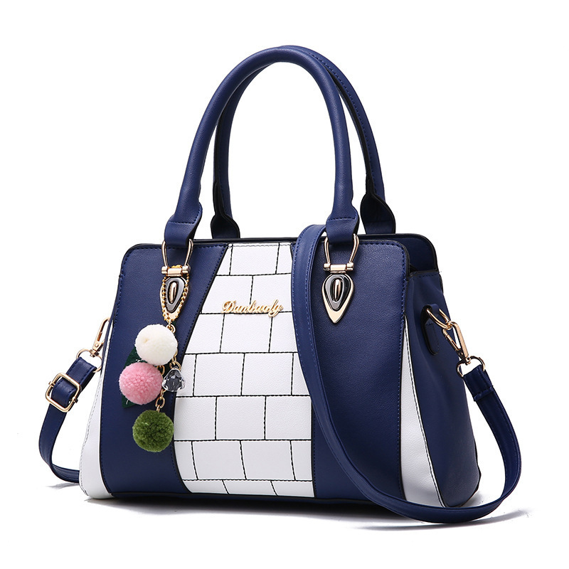 New Arravil Women Designer Bag PU Leather Handbag Luxury Shoulder Bag Office Ladies Printing Messenger Bag with Pandent Tote bag new cute kids tote girls shoulder bag mini bag bowknot handbag designer pu children baby tassel messenger bag women bag