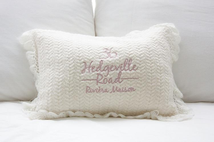 Riviera Maison Kussens : Riviera maison original single crochet lace wool blend cushion