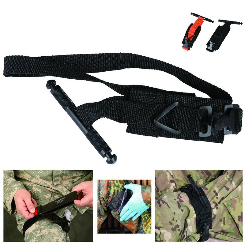 Emergency Tourniquet Strap Outdoor Military Tactical Tourniquet One Hand Portable First Aid Quick Slow Release Buckle Medical j2