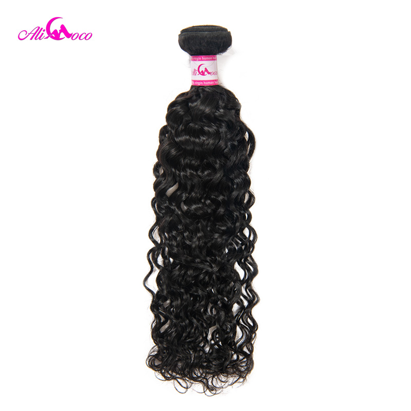 Ali Coco Water Wave Bundles Brazilian Hair Weave 1/3/4 Bundles Natural Color 8-30 Inch Non Remy Human Hair Extensions