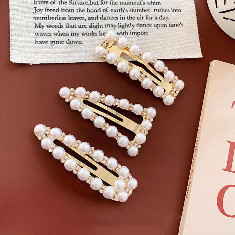 Модный искусственный жемчуг заколки для волос для девочек женские Геометрические заколки для волос Головные уборы Инструменты для укладки аксессуары D283