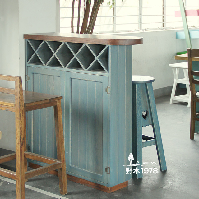 Mediterranean Simple Wood Furniture Imported Wood Bar Sets Off The Living  Room Cabinet Breakfast Table Bar