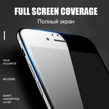 3D Round Curved Edge Tempered Glass For iPhone 6 6s Plus 7 8 X Full Cover Protective Premium 4D Screen Protector