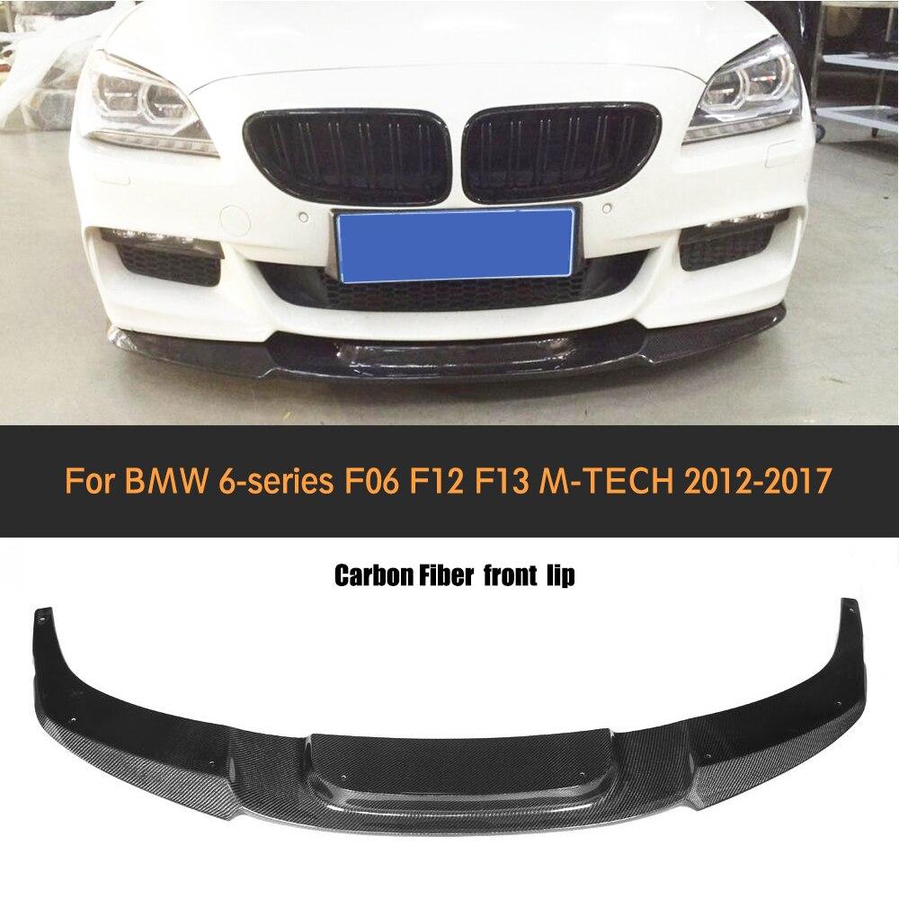 6 Series Carbon fiber front bumper lip Spoiler for BMW F06 F12 F13 M sport M bumper 2012 - 2016 640i 650i V style v sport mf3 6