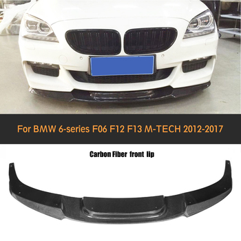 Untuk 6 Series Carbon Fiber Bibir Bumper Depan Spoiler untuk BMW F06 F12 F13 M Sport M Bumper 2012- 2016 640i 650i