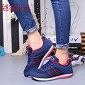 Дышащий Новый Весна Лето Бренд Женской Обуви Мода Обувь Для Ходьбы Женщин Повседневная Обувь Мягкие Удобные Толстой Подошве T357