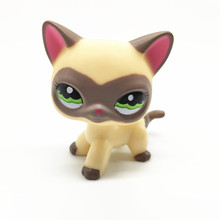 new pet genuine original lps 1679 cream maroon swirl bangs princess walking kitty cat collection figure toys LPS Pet Shop New Red Ear Gray Pattern Cream Yellow Short Hair Cat Stand LPS Cosplay Collection Mini Action Figure Children Gift