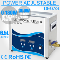 6L Ultrasonic Cleaner Bath 180W Power Adjustable Heater Degas Electronic Dental Lab Optical Parts Filter Hardware Washer