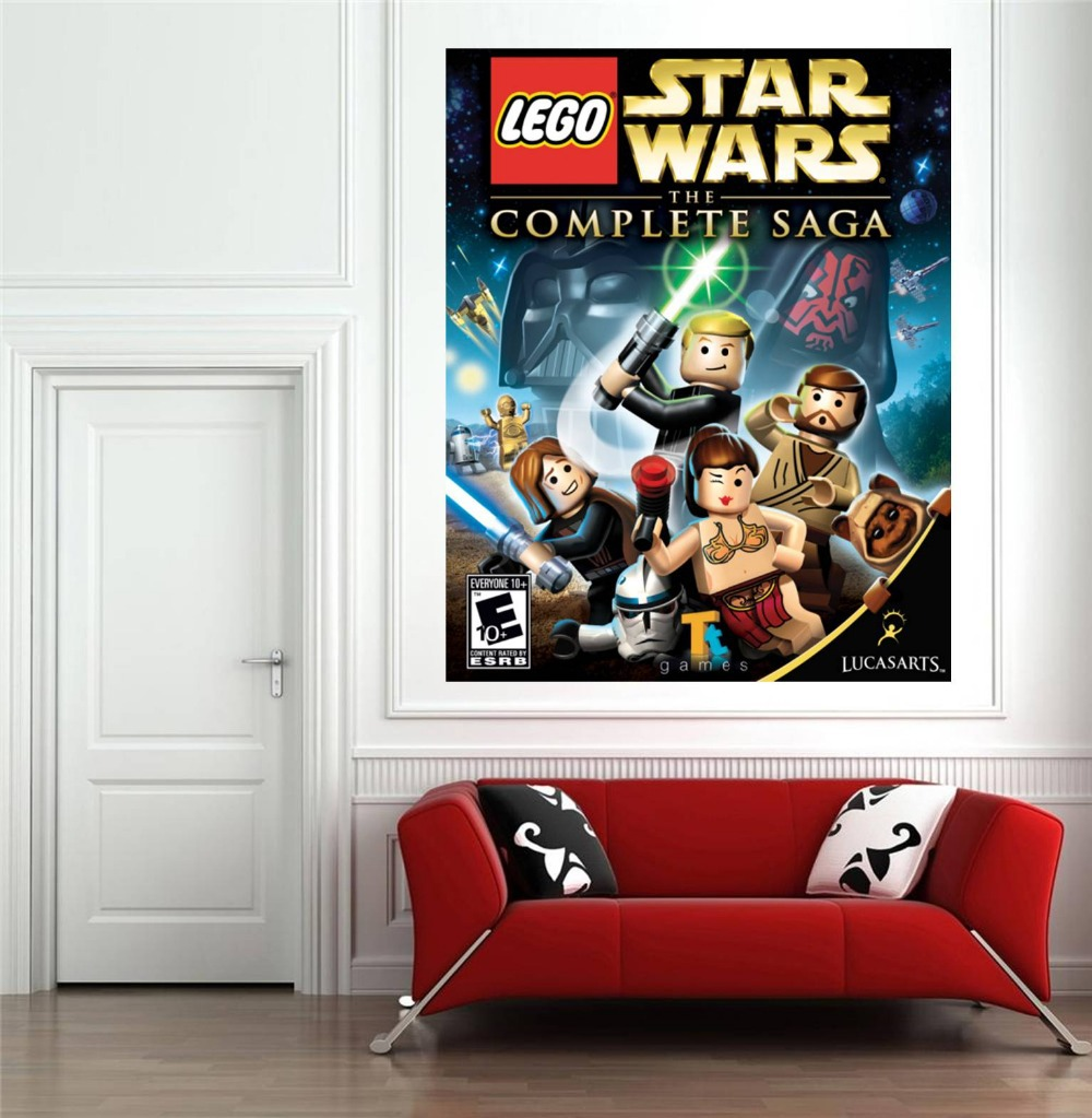 ... Free Shipping Lego Star Wars Poster Wall Stickers For Kids Rooms  20x28inch,50x70cm Removable Adesivos ... Part 32