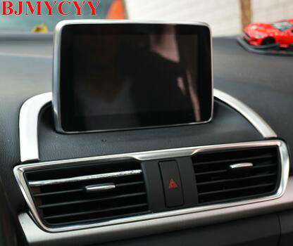 BJMYCYY 1PCS Car central control the navigation of the base of stainless steel decorative light for Mazda Axela 2017 the jews of east central europe between the world wars paper