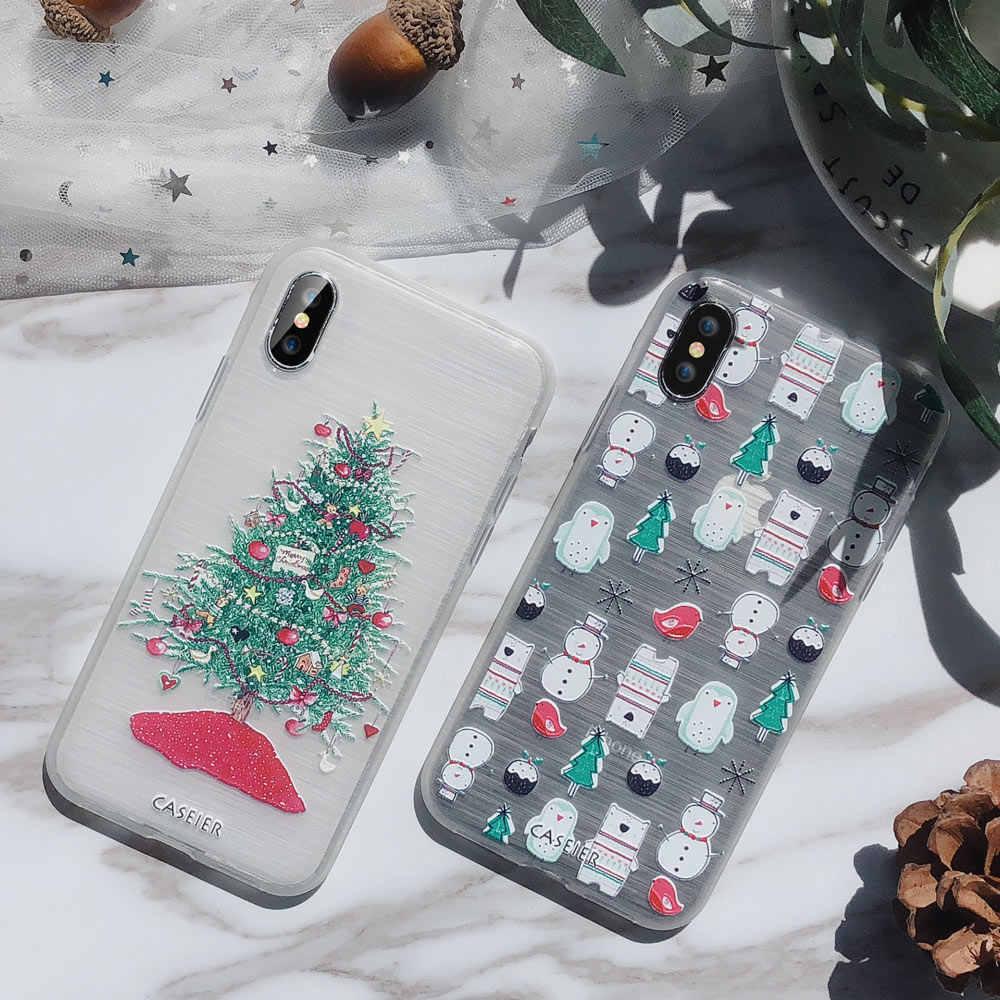 CASEIER جميل عيد الميلاد الهاتف حقيبة لهاتف أي فون 7 8 11 برو XS ماكس XR 2020 السنة الجديدة لينة بولي TPU حقيبة لهاتف أي فون 11 6 6s زائد Capinha