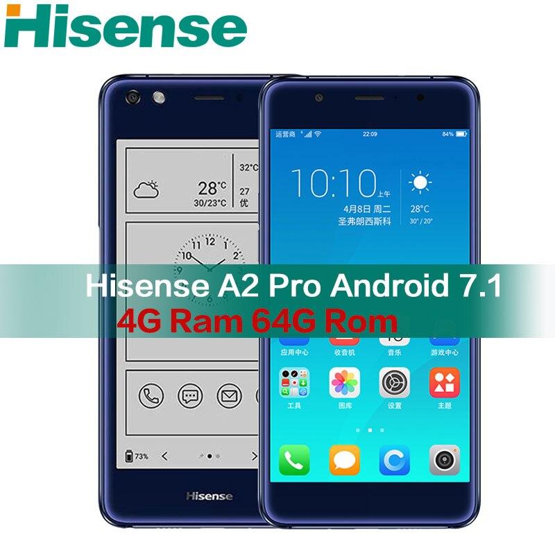 Hisense A2 Pro double écran mobile Smartphone 4g LTE FDD 5.5 Couleur 64 GROM téléphones Cellulaires courbe cellulaire téléphone NFC d'empreintes digitales