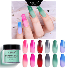 AZURE BEAUTY Temperature Chameleon Dipping Powder Nail Art Gradient Color Dip Thermo Changing Glitter
