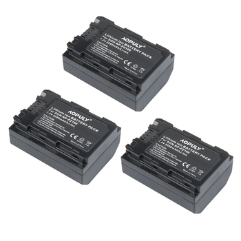 3Pcs 2280mAh NP FZ100 NP-FZ100 Rechargeable Li-ion Battery for Sony ILCE-9, A7M3, A7R3, A9 7RM3 Sony Alpha 9S A9R 9R DSLR Camera