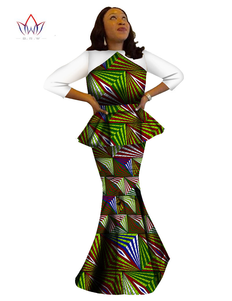 2017 summer african woman top and skirt set print dashiki wax robe longue femme evening cloth. Black Bedroom Furniture Sets. Home Design Ideas
