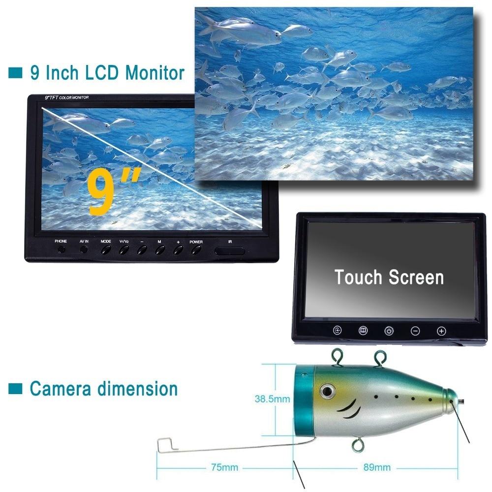 IP68 HD 1000TVL Pesca Submarina Sounders 24 LEDs brancos