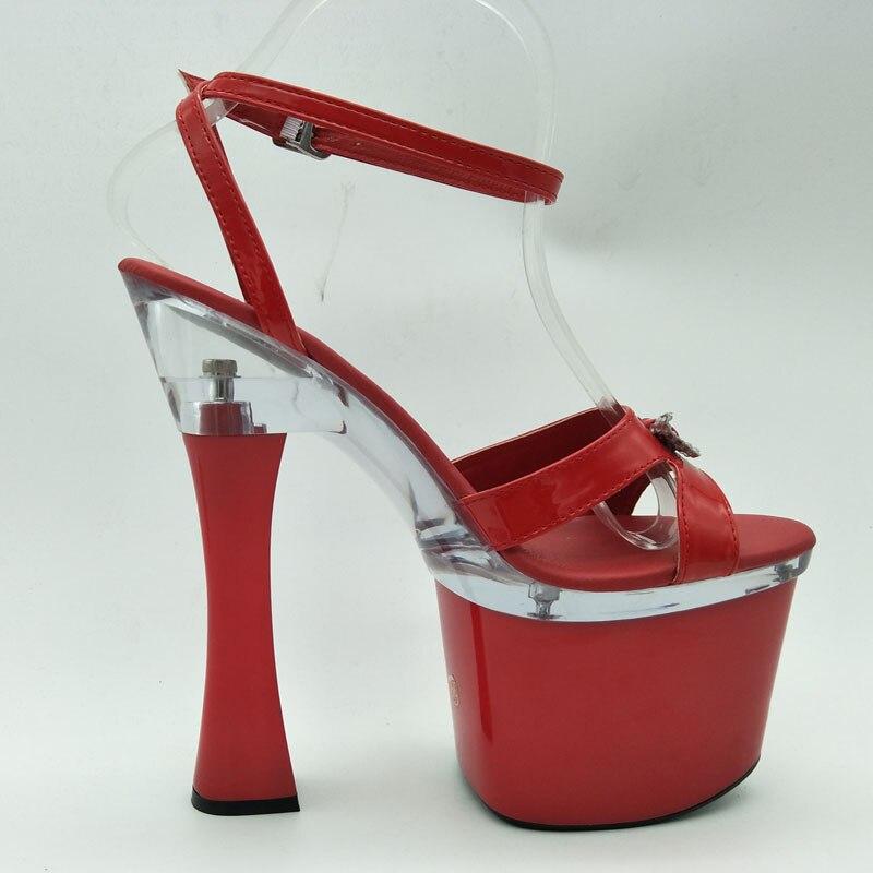Laijianjinxia F045 strap Confortable Pouce Tentation à Princesse Cm Chaussures 18 Haute Sexy Croix f051 Talons Sandales 7 À Hauts Cheville 1q1UwZrx