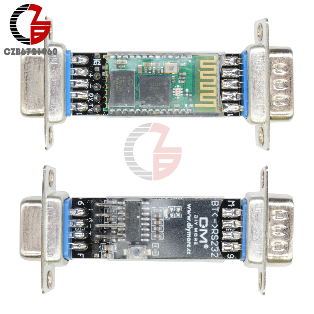 DB9 RS232 RF Wireless Bluetooth Module HC-06 Slave Serial Port Bluetooth V2.0 EDR DC 3.3V for Arduino MCU PC lcd display matrix 7 inch tablet al0203b 01 30p tft lcd screen panel lens frame replacement free shipping page 2