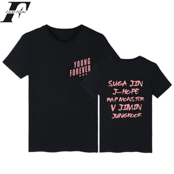 Album t shirt men/women harajuku kpop Bangtan summer for Love Young Forever fitness t shirt korean bts shirt funny Tshirt
