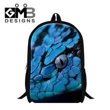 Blue school bookbags pattern