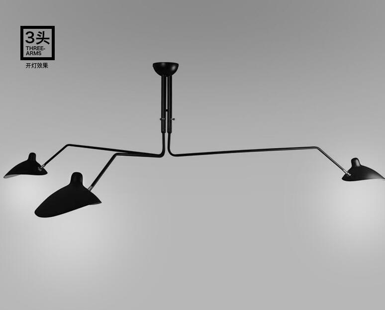 Retro Industriellen Loft Nordic Eisen Deckenleuchte Wohnzimmer Kreative Knstlerische Persnlichkeit Entenschnabel Lampenschirm Spinne China