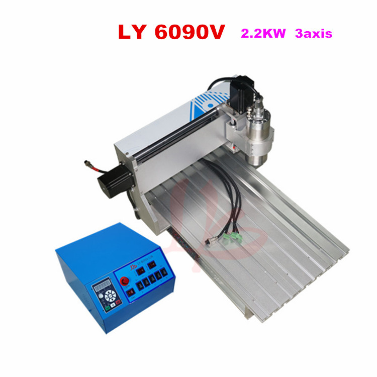 cnc milling machine CNC 6090 3 axis 2.2kw spindle Engraving Machine for aluminum woodworking advertise  цены