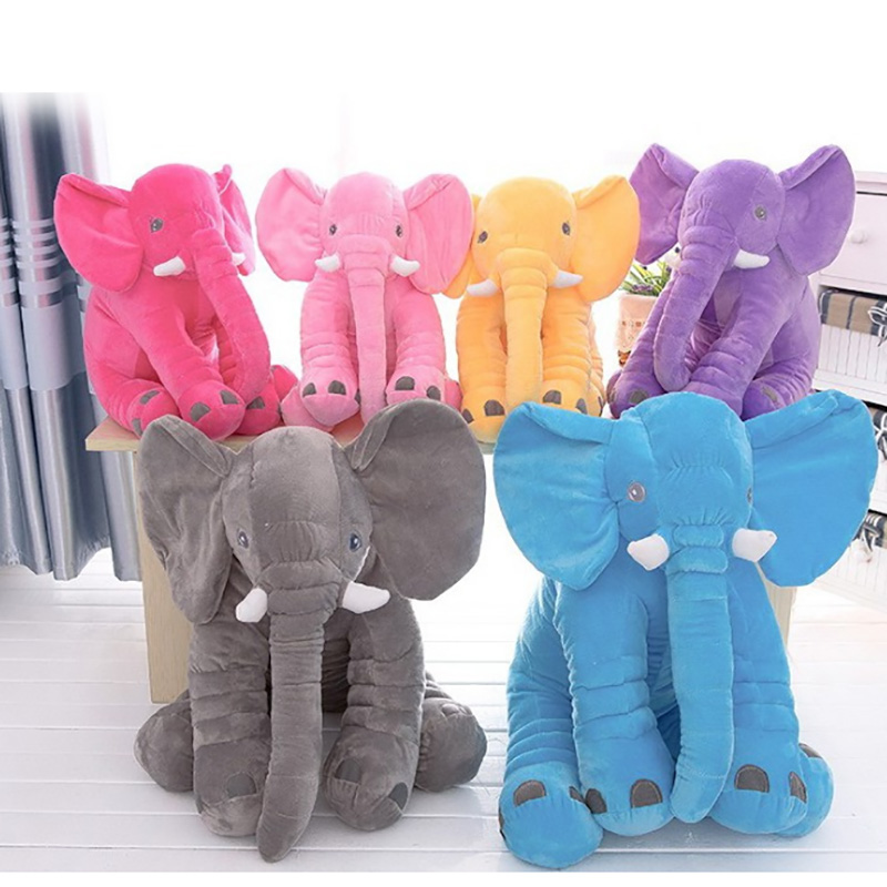 33/40/60/72 cm Elephant Toy 6 Colors Option Cushion Pillow