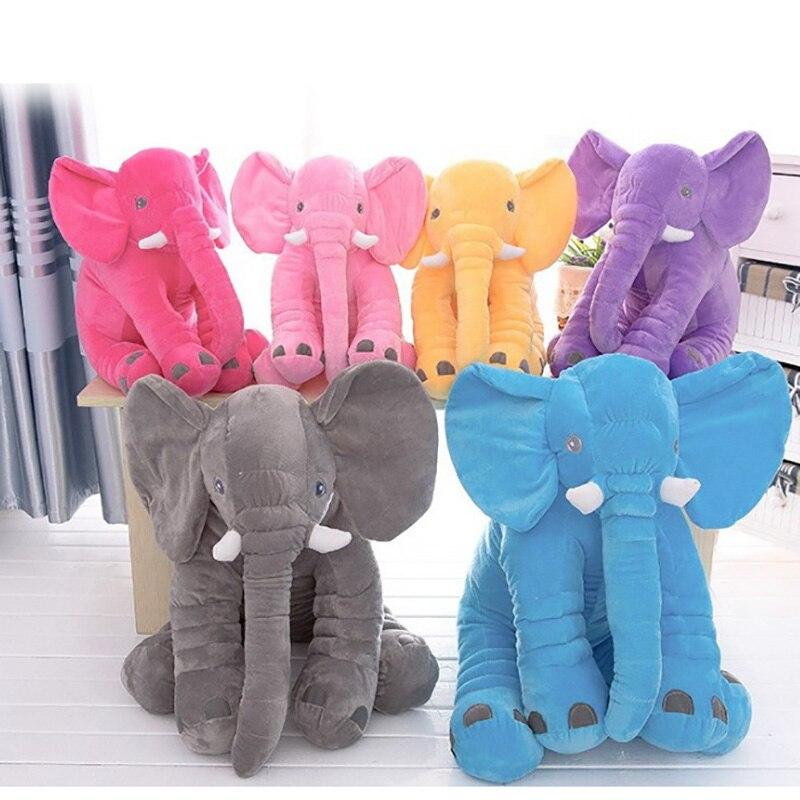 33/40/60/72 cm elefante de peluche de juguete 6 colores opción almohada cojín