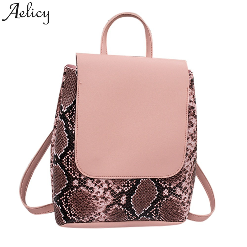 bf30c2be44d Detail Feedback Questions about Aelicy women Backpack Fashion Snake Pattern Ladies  Backpack Travel girls school bags mochila feminina dropshipping hot sale ...