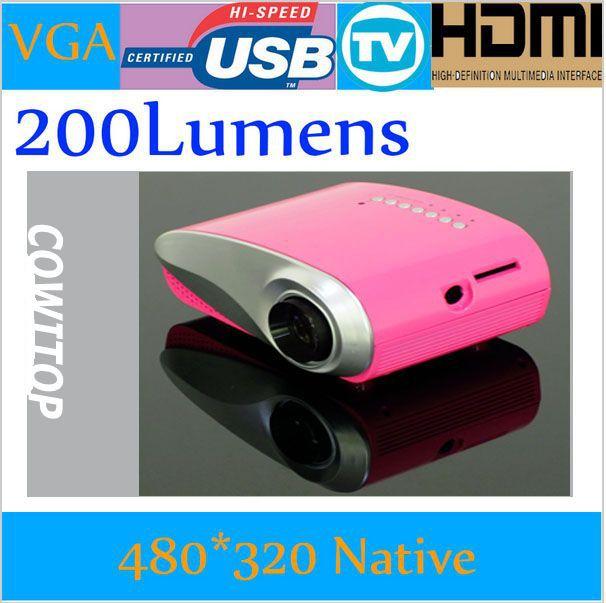 200 Lumens home Multimedia CinemaTV proyektor mini,Digital Proyector pintar, Portabel Projetor Beamer,50000 Hours dipimpin lampu