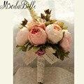 2016 Новый Свадебный Букет Свадебные Букеты Искусственные Цветы Букет Для Невесты Розовый Дешевые Грос Де Mariage