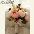 2016 New Bridal Bouquet Wedding Artificial Flowers Bouquet For Bridesmaids Pink Cheap Gros Bouquets De Mariage