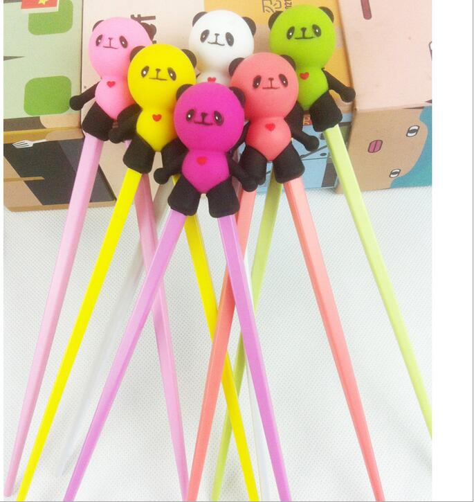 DHL free shipping 100 Pair Cute Panda Silicone Chopstick Chinese Chopstick Children Training Chopstick Length 18CM